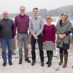 Das klimafit-Projektteam: v.l.n.r. Diana Sträuber (fesa e.V), Dr. Wulf Westermann (ifpro), Dr. Klaus Grosfeld (REKLM, AWI), Frank Phillips (fesa e.V.), Dr. Renate Treffeisen (REKLIM, AWI), Bettina Münch-Epple (WWF), Armin Bobsien (Klimaschutzmanager Stadt Emmendingen)